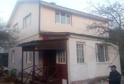 Отделка двухэтажного дома вагонкой