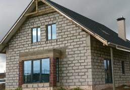 Деревенский блочный дом