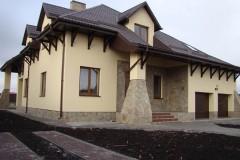 Облицовка стен коттеджа в Егорьевске