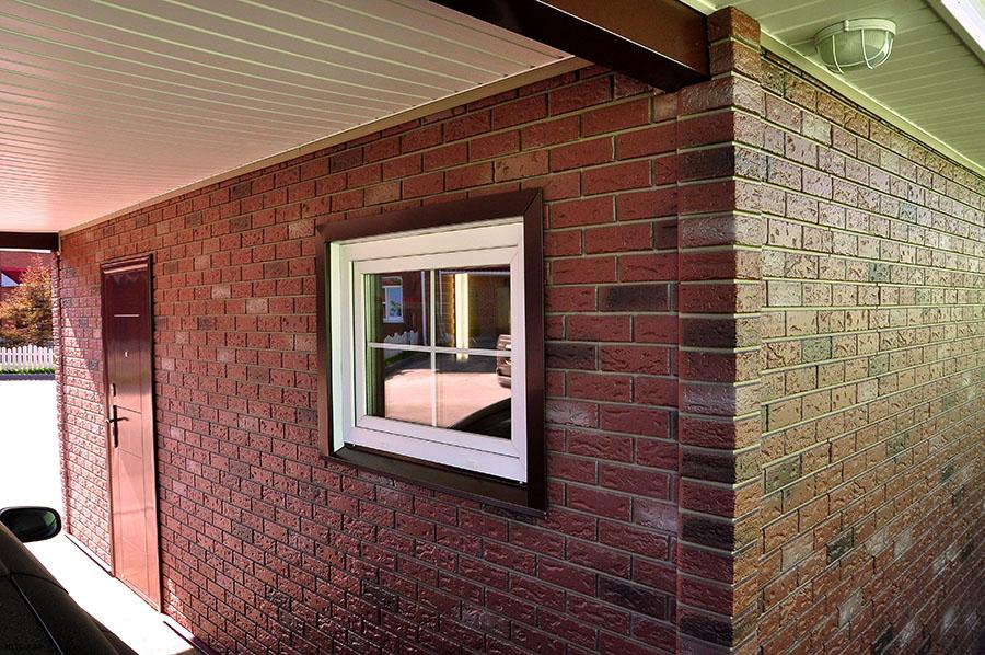 Отделка фасадов дома под кирпич