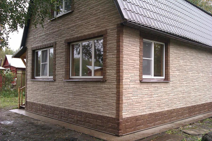 Виды отделки сайдингом фасадов домов фото